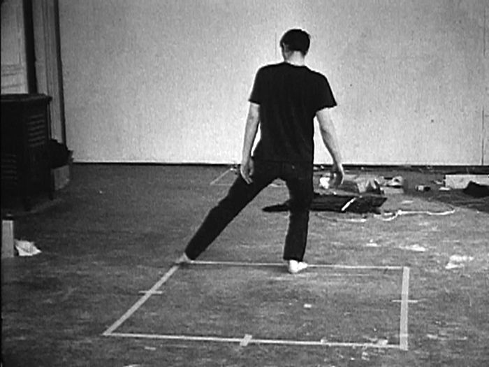Bruce Nauman. <i>Dance or Exercise on the Perimeter of a Square (Square Dance)</i>, 1967-1968.<br />
