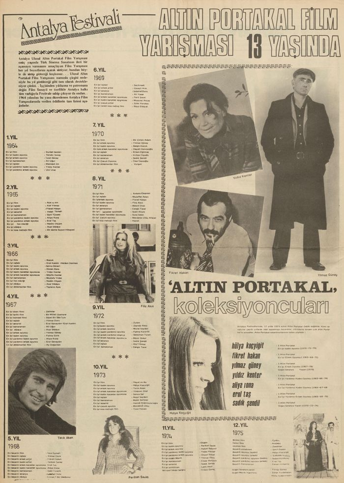 From the newspaper Festival 13 (1976)                                                                                                                                                                                                                           <i>Festival 13</i> gazetesinden (1976)<br />