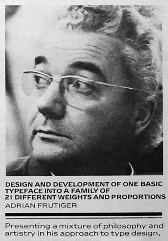 The Man of Black & White: Adrian Frutiger