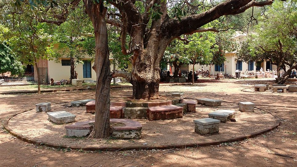 Ch1 1 05 Sitting Arrangements Outdoor Kb 3 Kopie Kopie 4 Kala Bhavan Campus, Santiniketan, West Bengal, India, 2017