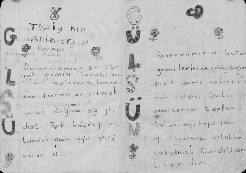 Gulsun 4 Fig. 5. Gülsün Karamustafa, <i>The Notebook</i> (1993), detail. Kadın Eserleri Kütüphanesi ve Bilgi Merkezi Vakfı (Women's Library and Information Center Foundation), Istanbul.