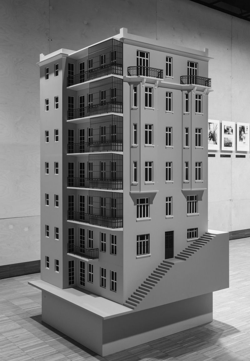 Gulsun 7 Fig. 7. Gülsün Karamustafa, <i>The Apartment Building</i> (2012), mixed media installation. <i>A Promised Exhibition</i>, SALT Beyoğlu, Istanbul.