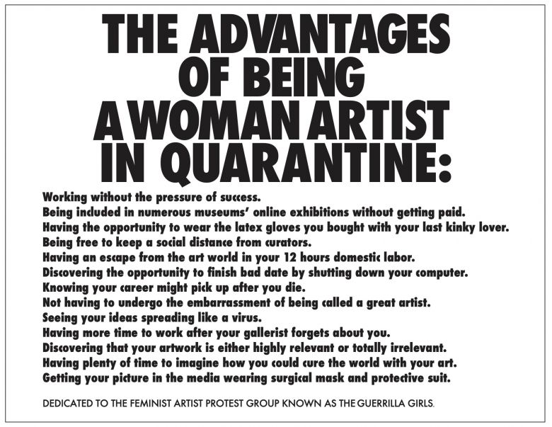 Ivekovic Sanja The Advantages Of Being A Woman Artist In Quarantine